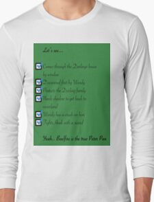 Whose the real Peter Pan Long Sleeve T-Shirt
