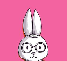 Hipster rabbit in glasses and tie by olarty
