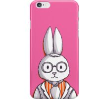 Hipster rabbit in glasses and tie iPhone Case/Skin