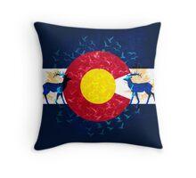 Colorado flag nature scenery art Throw Pillow