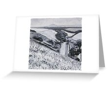 Uphill (half way down the other side) Greeting Card