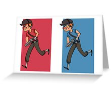 RED and BLU scout Greeting Card