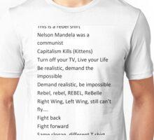 Scrolling Slogans Unisex T-Shirt