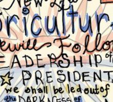 FFA - President  Sticker