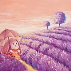 Bunny in lavender fields by olarty