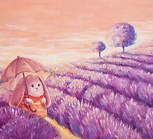 Bunny in lavender fields by olarty
