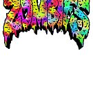 Flatbush Zombies Logo - Multicolored  by Ben McCarthy