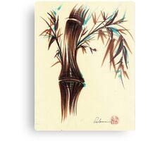 REFLECT -  Sumi-e ink brush pen Zen bamboo painting Metal Print