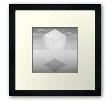 Paper Box Rising Framed Print