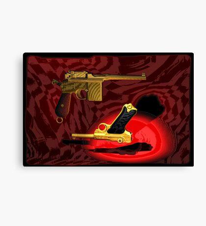 Mauser C96 & Luger P08 (Parabellum) - Pop Art Guns Canvas Print