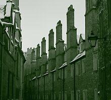 Cambridge Winter Lane Sepia by Tim1001