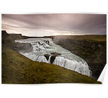 Gullfoss Waterfall Poster