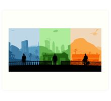 Grand Theft Auto: Trio Art Print