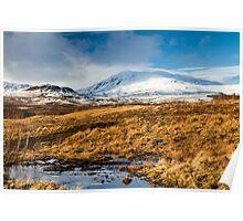 Ben Vrackie in winter, Scotland Poster