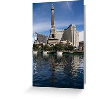 Reflecting on Paris Las Vegas Greeting Card
