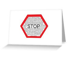 STOP Greeting Card