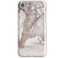 Light Walk in the Snowy Old Park iPhone Case/Skin