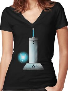 MASTER BUSTER SWORD Women's Fitted V-Neck T-Shirt