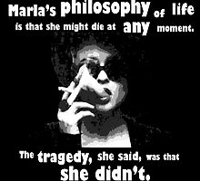 Marla's philosophy - Fight club. by fianchi04