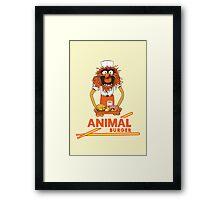 Animal Burger Framed Print