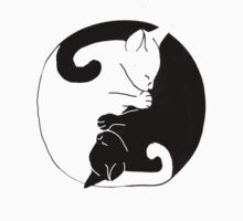 ying and yang cats by saraquinlovesme