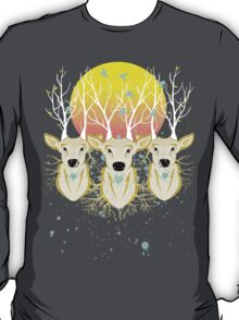 Roots To Grow and Wings To Fly (Three Deer New Dawn) T-Shirt