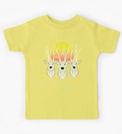 Roots To Grow and Wings To Fly (Three Deer New Dawn) Kids Tee
