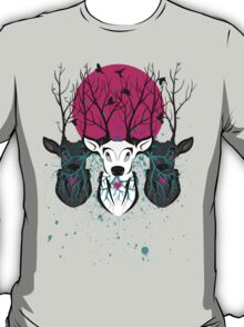 Roots To Grow and Wings To Fly (Three Deer Twilight) T-Shirt