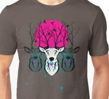 Roots To Grow and Wings To Fly (Three Deer Twilight) Unisex T-Shirt