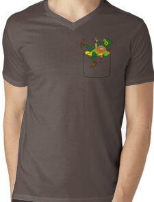 Lucky Leprechaun In My Pocket Mens V-Neck T-Shirt