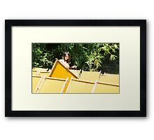 yellow paper Framed Print