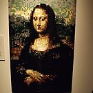 Lego, Mona Lisa, Art of the Brick Exhibition, Nathan Sawaya, Artist, Discovery Times Square, New York City   by lenspiro