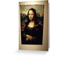 Lego, Mona Lisa, Art of the Brick Exhibition, Nathan Sawaya, Artist, Discovery Times Square, New York City   Greeting Card