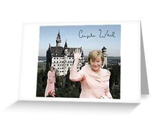 Angela and the castle of Neuschwanstein  Greeting Card
