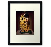 "Lego, "" The Kiss"", Art of the Brick Exhibition, Nathan Sawaya, Artist, Discovery Times Square, New York City   Framed Print"