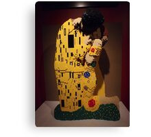 """Lego, """" The Kiss"""", Art of the Brick Exhibition, Nathan Sawaya, Artist, Discovery Times Square, New York City   Canvas Print"""