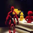 Lego Sculpture, Art of the Brick Exhibition, Nathan Sawaya, Artist, Discovery Times Square, New York City by lenspiro