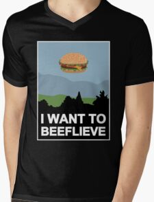 I want to beeflieve Mens V-Neck T-Shirt