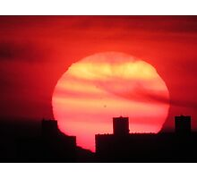 Valentine Sunset in New York City  Photographic Print