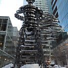 "New York City Sculpture, ""The Guardians: Superhero"" by lenspiro"