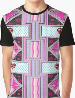 Valentine Heart patchwork gifts Graphic T-Shirt