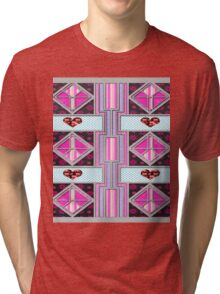 Valentine Heart patchwork gifts Tri-blend T-Shirt