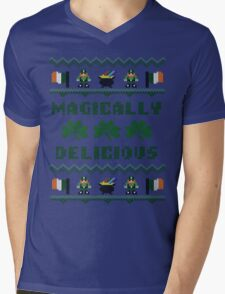 Magically Delicious St Patricks Day Ugly Sweater Mens V-Neck T-Shirt
