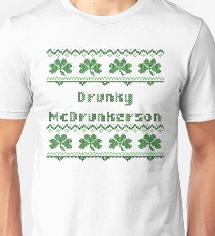 Drunky McDrunkerson Irish Sweater St Patricks Day  Unisex T-Shirt