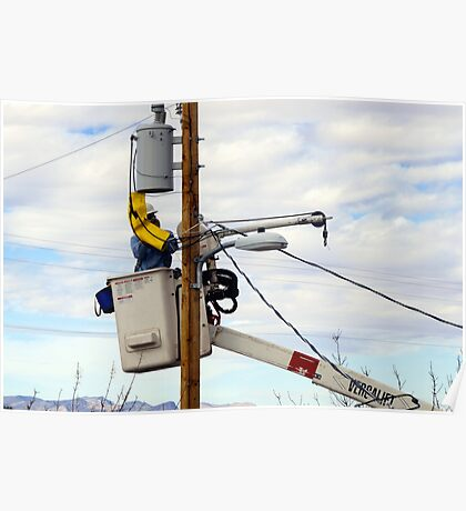 Electric Power Lineman Poster