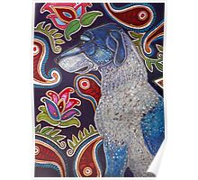 Painted Dog Poster