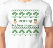 Drunky McDrunkerson Irish Sweater Saint Patricks Day Unisex T-Shirt