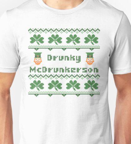 Drunky McDrunkerson Irish Sweater Saint Patricks Day Unisex T-Shirt