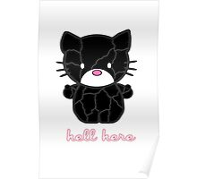 Hell Here Kitty Woman Poster