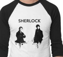 Sherlock in Black and White Men's Baseball ¾ T-Shirt